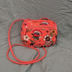 Vera Bradley Iconic Little CB in Coral Floral